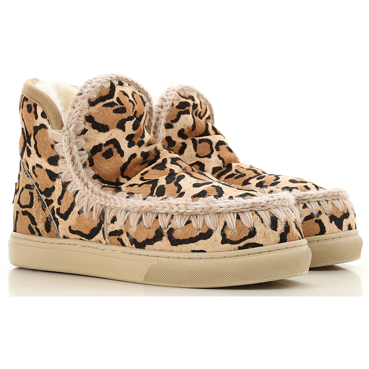 Mou Boots for Women, Booties On Sale, Leopard sand, Fur, 2019, Eu 35 EUR 37 - UK 4 - USA 6.5 EUR 39 - UK 6 - USA 8.5 EUR 40 - UK 7 - USA 9.5