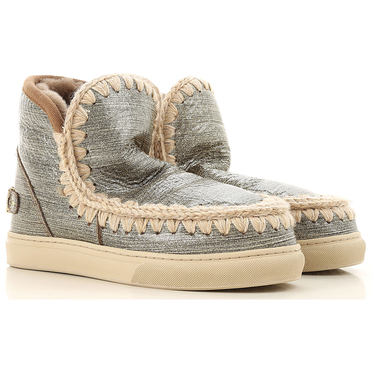 Mou Boots for Women, Booties On Sale, Metallic Gold, Leather, 2019, Eu 35 EUR 36 - UK 3 - USA 5.5 EUR 37 - UK 4 - USA 6.5 EUR 38 - UK 5 - USA 7.5 EUR