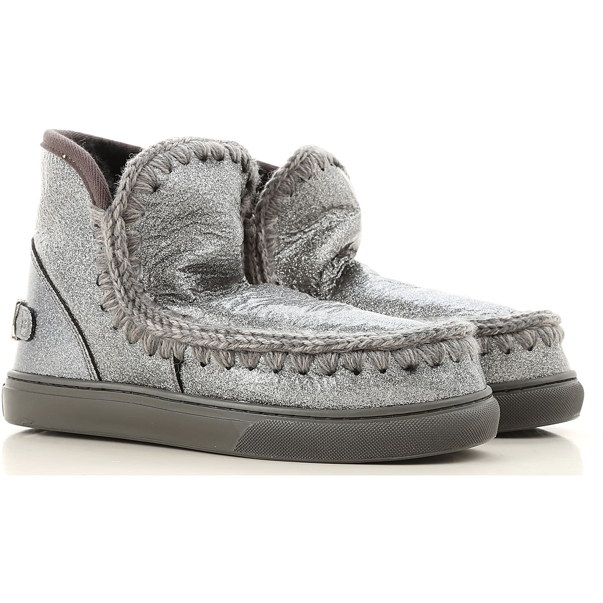 Mou Boots for Women, Booties On Sale, Silver, Leather, 2019, EUR 37 - UK 4 - USA 6.5 EUR 38 - UK 5 - USA 7.5 EUR 39 - UK 6 - USA 8.5