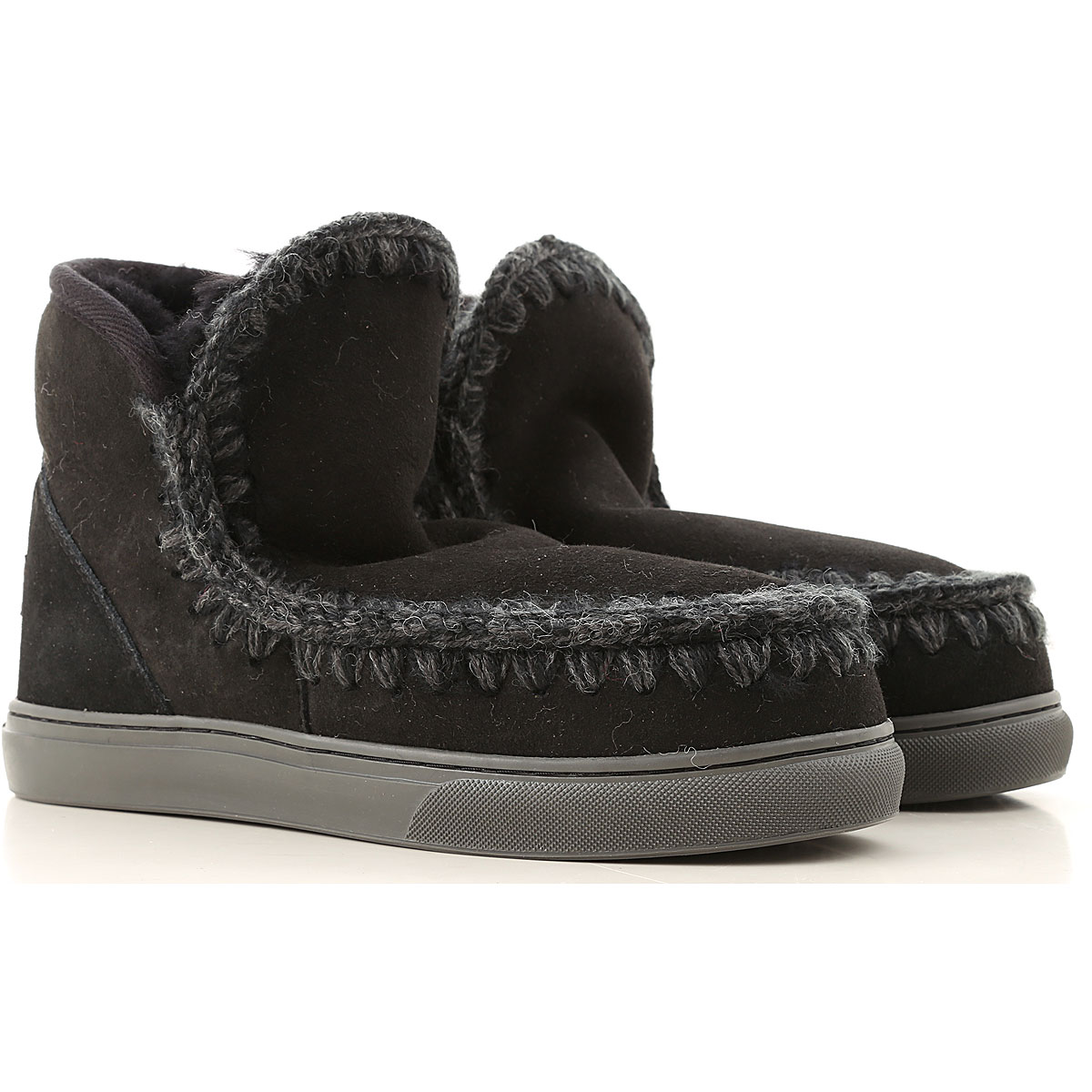 Mou Boots for Women, Booties On Sale, Black, Suede leather, 2019, EUR 36 - UK 3 - USA 5.5 EUR 37 - UK 4 - USA 6.5