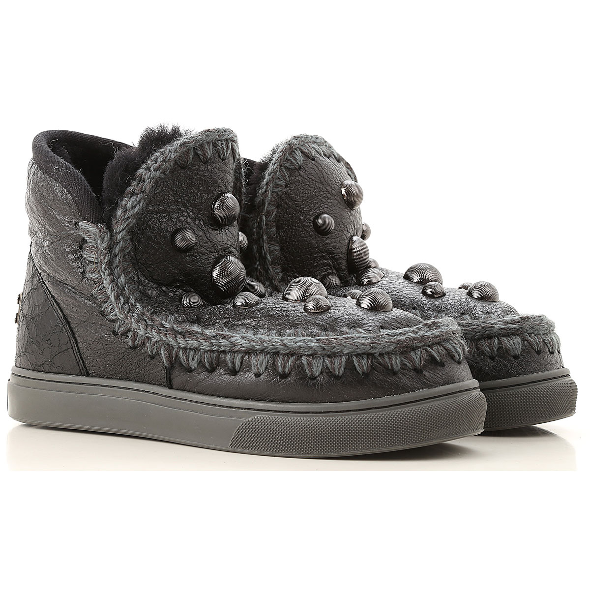 Image of Mou Boots for Women, Booties, Black, Leather, 2017, EUR 37 - UK 4 - USA 6.5 EUR 38 - UK 5 - USA 7.5 EUR 39 - UK 6 - USA 8.5 EUR 40 - UK 7 - USA 9.5