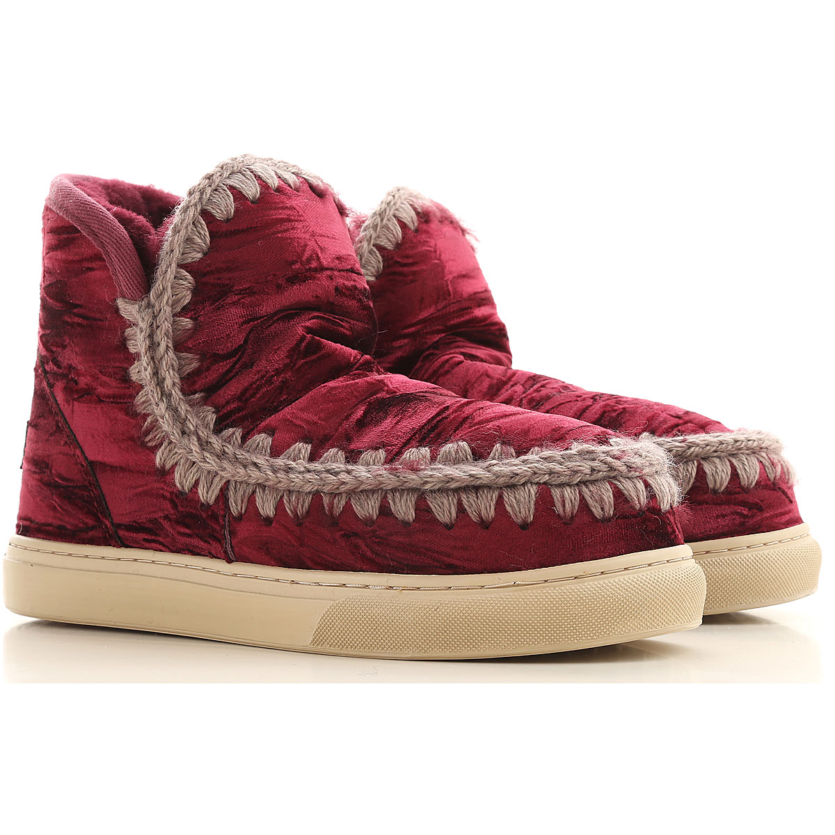 Mou Boots for Women, Booties On Sale in Outlet, Velvet, 2019, EUR 37 - UK 4 - USA 6.5 EUR 38 - UK 5 - USA 7.5 EUR 39 - UK 6 - USA 8.5 EUR 40 - UK 7 -