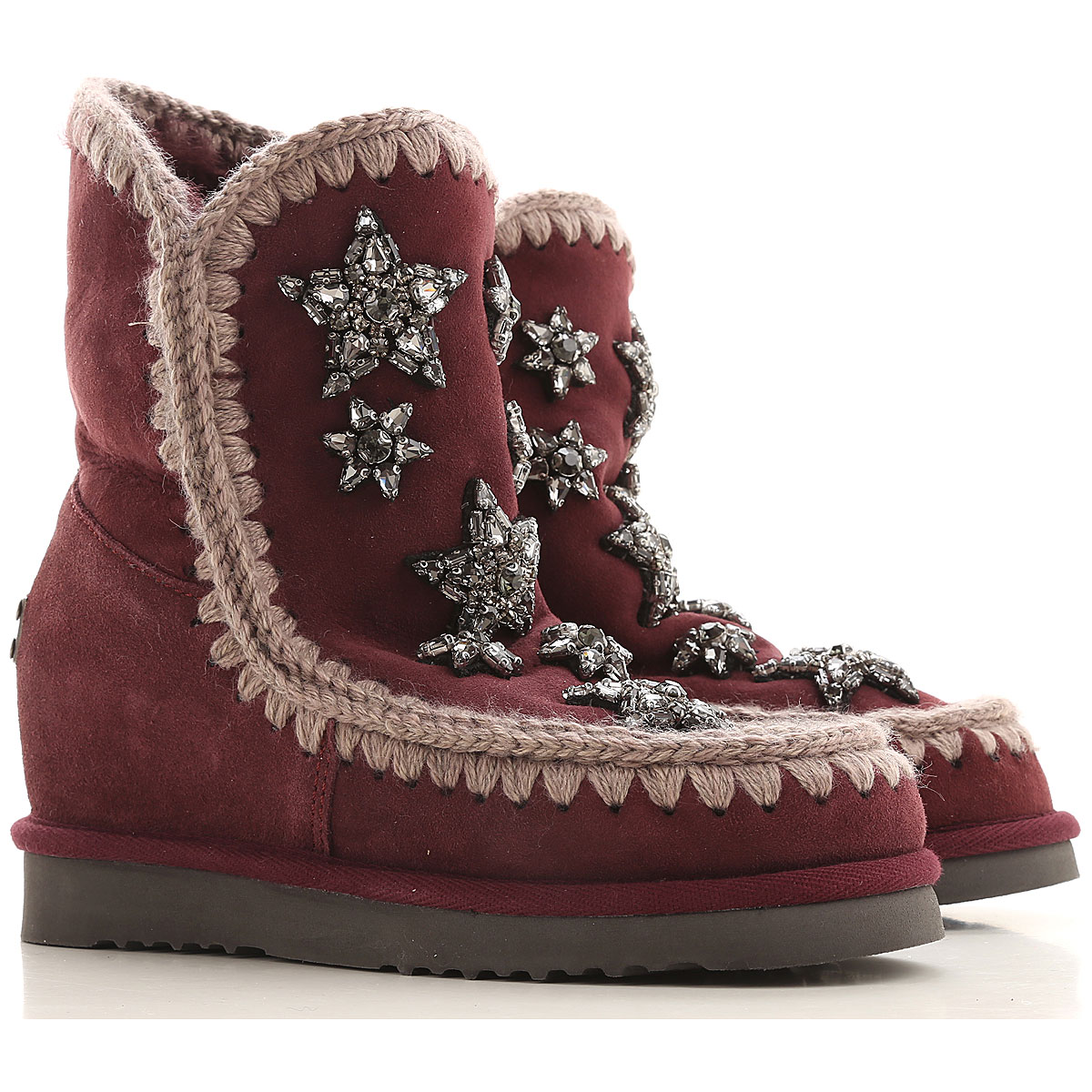 Mou Boots for Women, Booties On Sale in Outlet, Purple, sheepskin, 2019, EUR 37 - UK 4 - USA 6.5 EUR 38 - UK 5 - USA 7.5 EUR 39 - UK 6 - USA 8.5 EUR 4