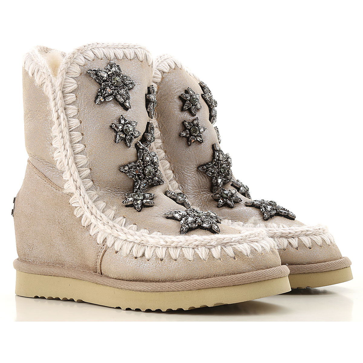 Image of Mou Boots for Women, Booties, Beige, Leather, 2017, EUR 36 - UK 3 - USA 5.5 EUR 37 - UK 4 - USA 6.5 EUR 38 - UK 5 - USA 7.5 EUR 39 - UK 6 - USA 8.5 EUR 40 - UK 7 - USA 9.5