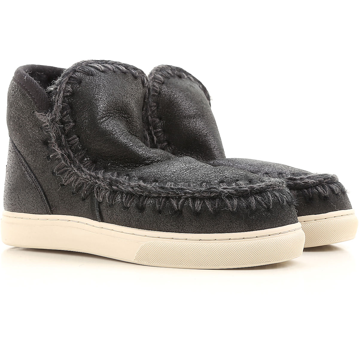 Image of Mou Boots for Women, Booties, Black, Leather, 2017, EUR 36 - UK 3 - USA 5.5 EUR 37 - UK 4 - USA 6.5 EUR 38 - UK 5 - USA 7.5 EUR 39 - UK 6 - USA 8.5 EUR 40 - UK 7 - USA 9.5