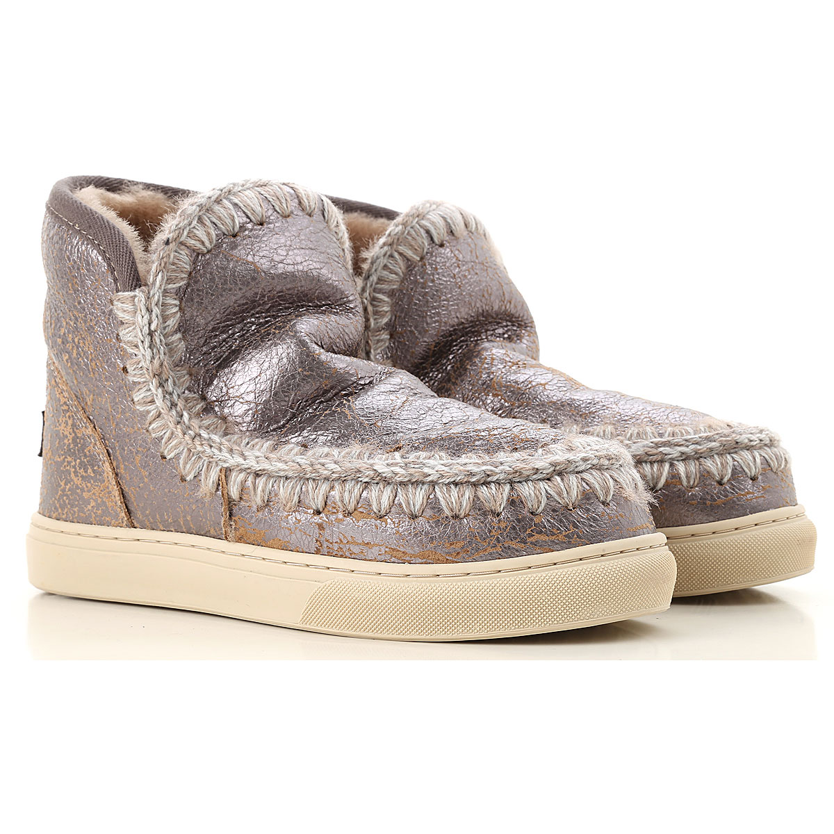 Image of Mou Boots for Women, Booties, Grey, Leather, 2017, EUR 36 - UK 3 - USA 5.5 EUR 37 - UK 4 - USA 6.5 EUR 38 - UK 5 - USA 7.5 EUR 39 - UK 6 - USA 8.5 EUR 40 - UK 7 - USA 9.5