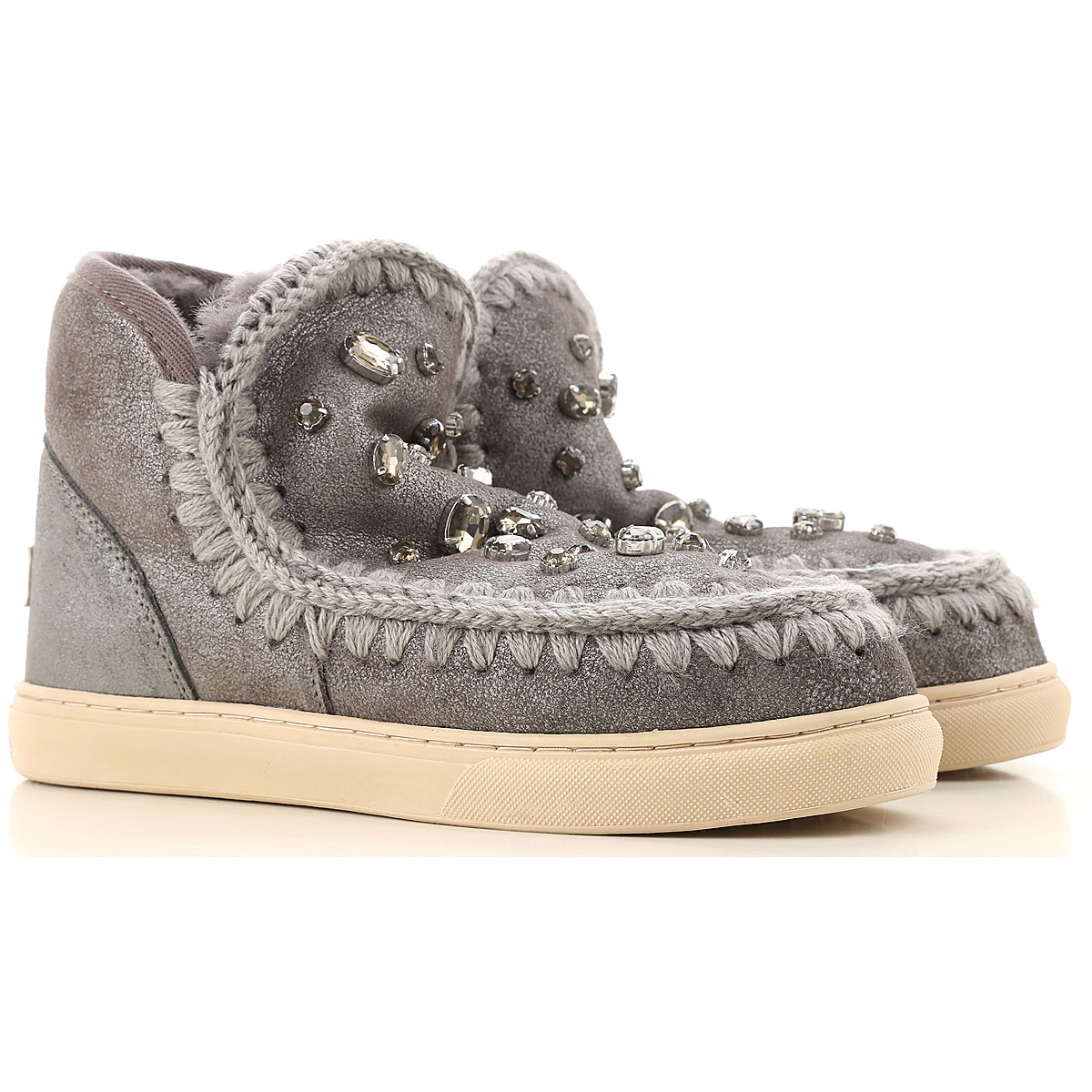 Mou Boots for Women, Booties On Sale, Silver, Leather, 2019, EUR 38 - UK 5 - USA 7 EUR 36 - UK 3 - USA 5.5 EUR 39 - UK 6 - USA 8.5