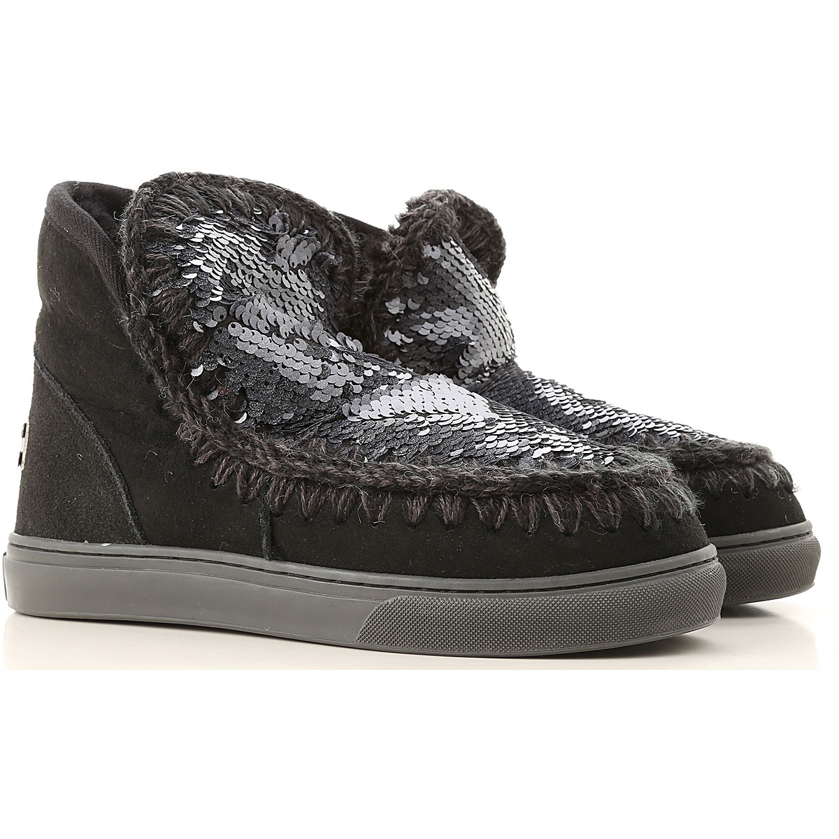 Image of Mou Boots for Women, Booties, Black, suede, 2017, EUR 37 - UK 4 - USA 6.5 EUR 38 - UK 5 - USA 7.5 EUR 39 - UK 6 - USA 8.5 EUR 40 - UK 7 - USA 9.5