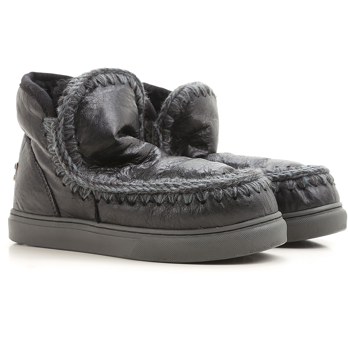 Image of Mou Boots for Women, Booties, Black, Leather, 2017, EUR 36 - UK 3 - USA 5.5 EUR 37 - UK 4 - USA 6.5 EUR 39 - UK 6 - USA 8.5 EUR 40 - UK 7 - USA 9.5