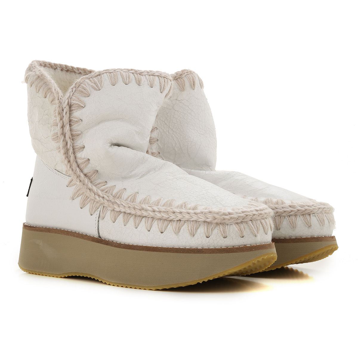 Image of Mou Boots for Women, Booties, White, Leather, 2017, EUR 37 - UK 4 - USA 6.5 EUR 38 - UK 5 - USA 7.5 EUR 39 - UK 6 - USA 8.5 EUR 40 - UK 7 - USA 9.5