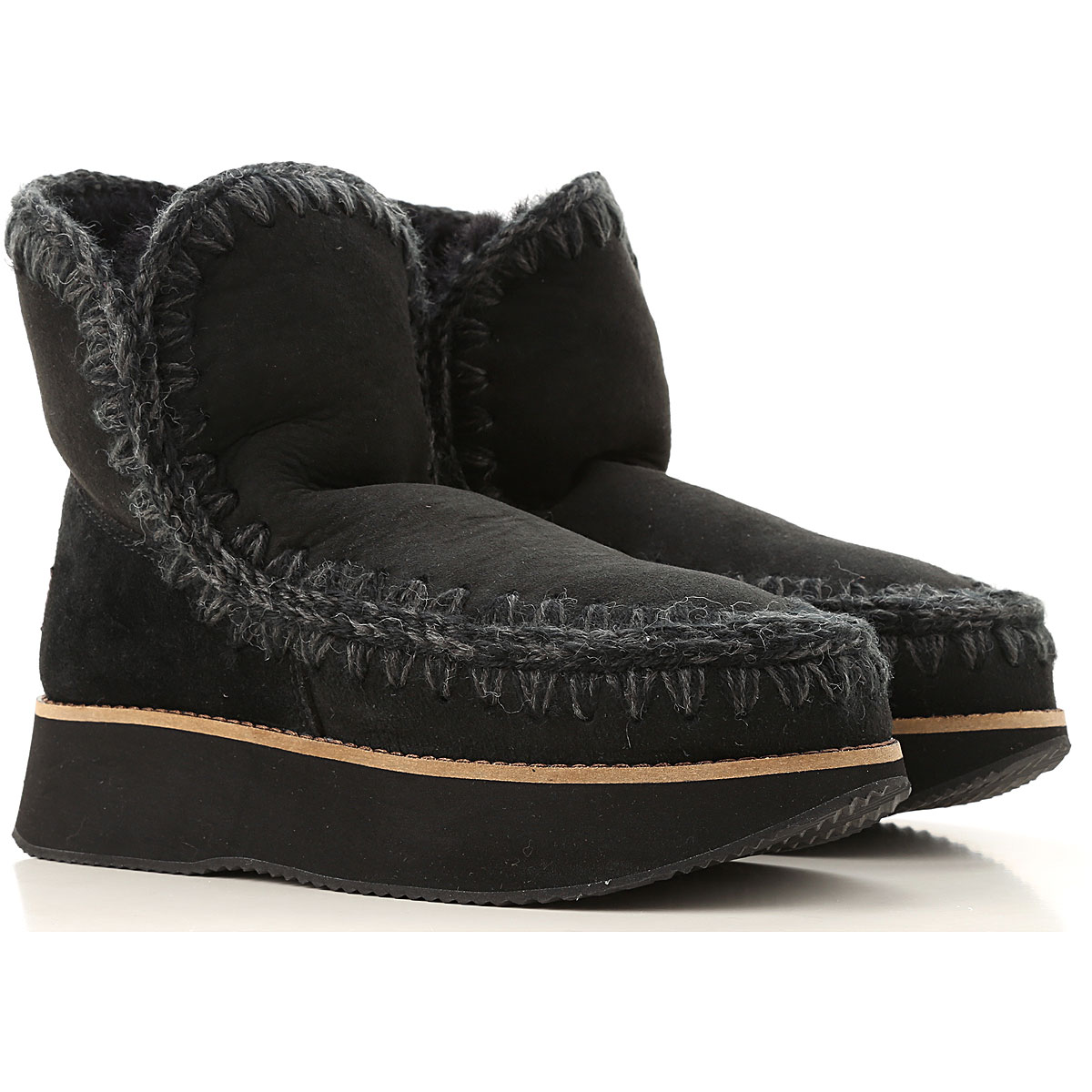 Mou Boots for Women, Booties On Sale, Black, Suede leather, 2019, EUR 36 - UK 3 - USA 5.5 EUR 40 - UK 7 - USA 9.5