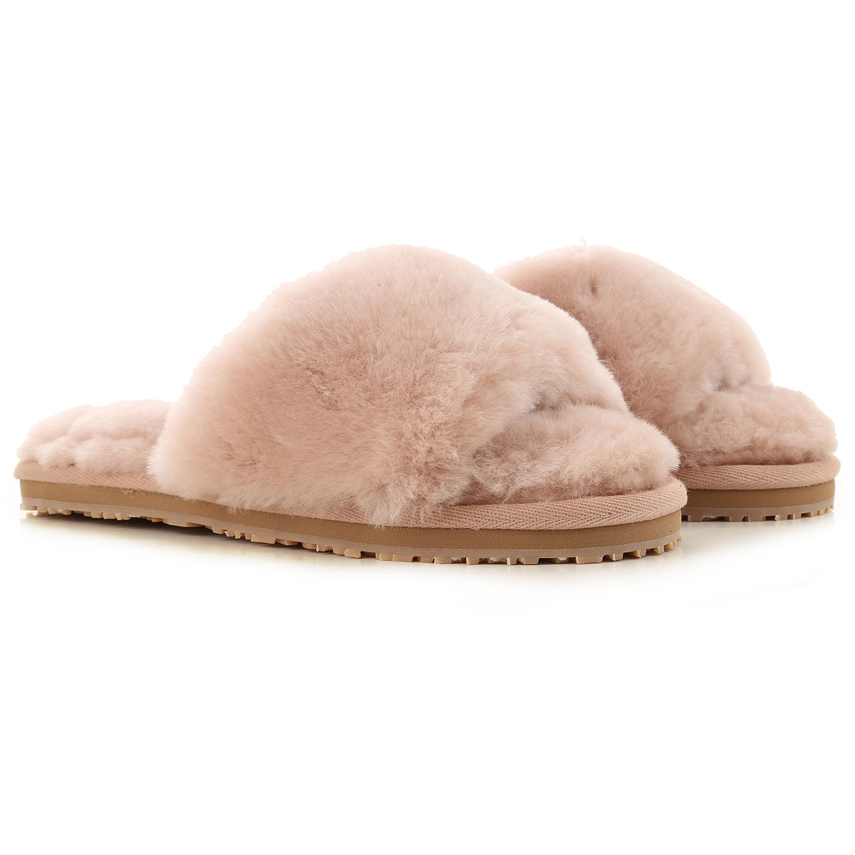 Mou Sandals for Women On Sale, Powder, Fur, 2019, EUR 36 - UK 3 - USA 5.5 EUR 37 - UK 4 - USA 6.5