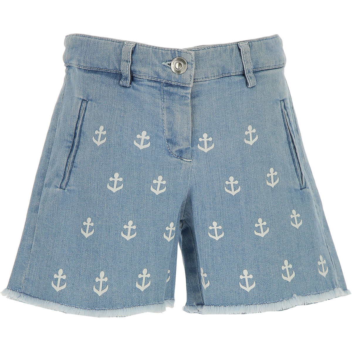 NO 21 Kids Shorts for Girls On Sale in Outlet, Blue Denim, Cotton, 2019, 30 (6 Years) 36 (9 Years) 44 (14 Years)