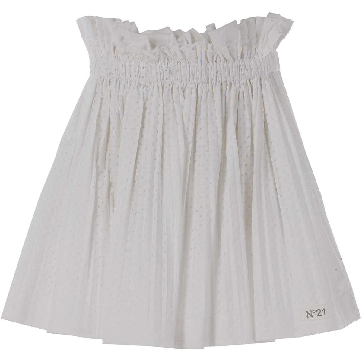 NO 21 Kids Skirts for Girls On Sale in Outlet, White, Cotton, 2019, 30 (6 Years) 36 (9 Years) 42 (12 Years) 44 (14 Years)