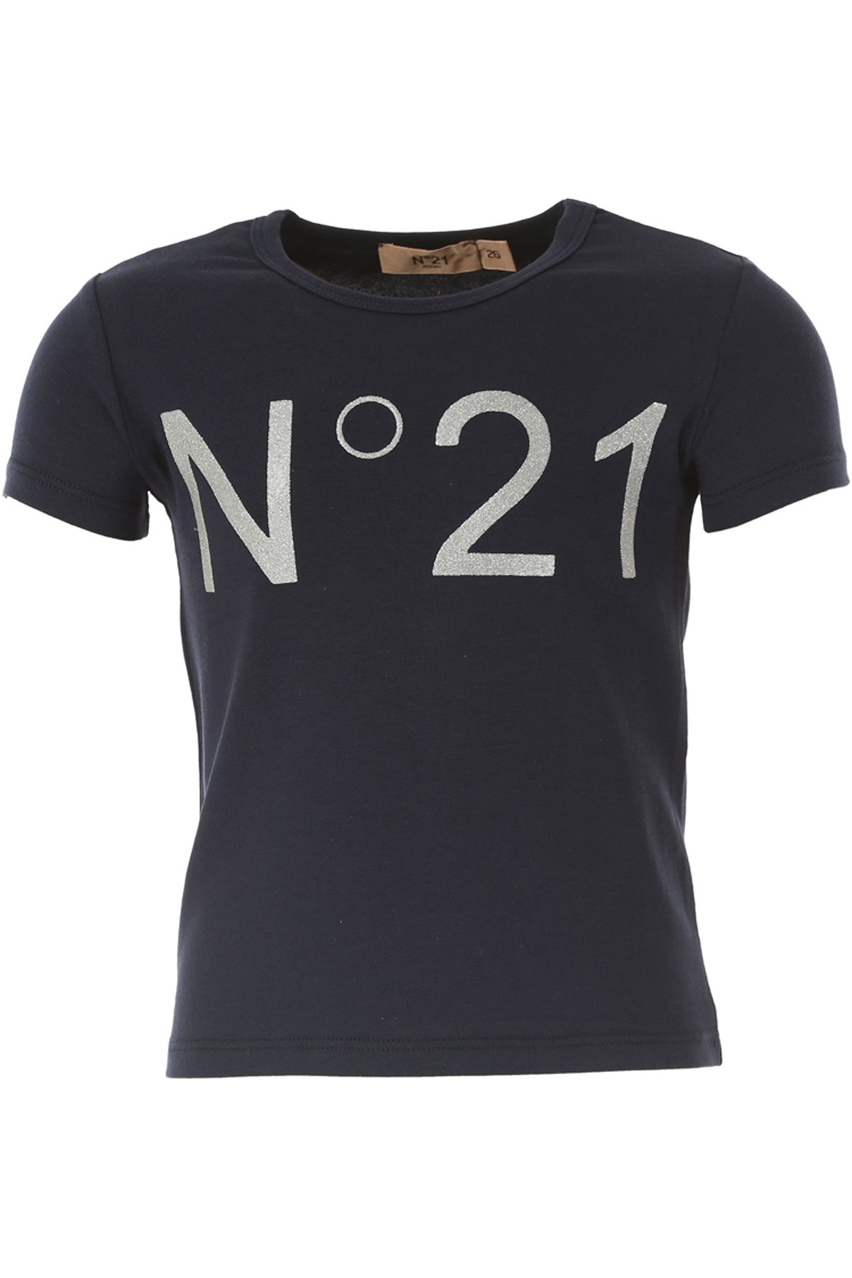 NO 21 Kids T-Shirt for Girls On Sale in Outlet, Blue, Cotton, 2019, 30 (6 Years) 34 (8 Years) 36 (9 Years)