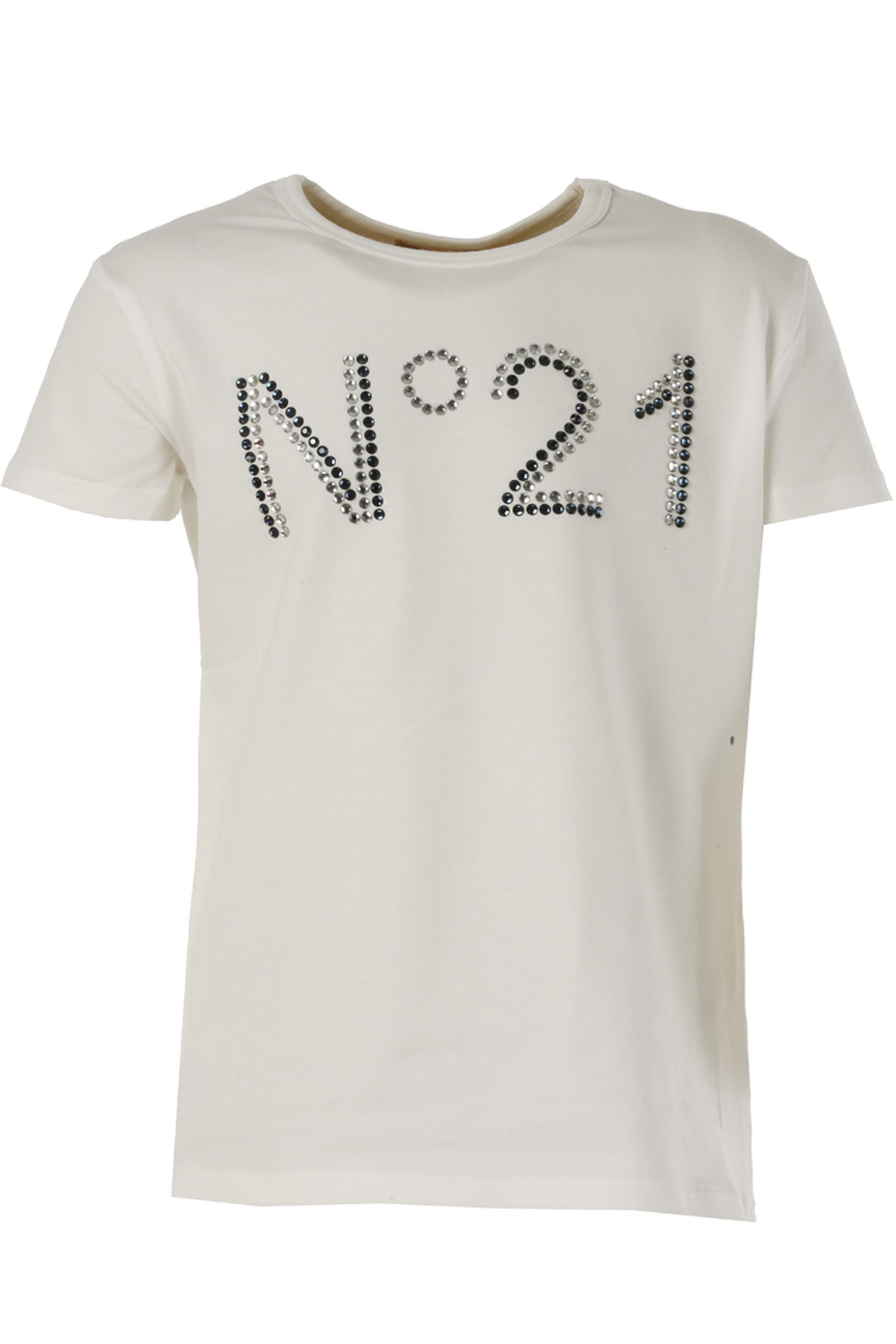 NO 21 Kids T-Shirt for Girls On Sale in Outlet, White, Cotton, 2019, 36 (9 Years) 38 (10 Years)