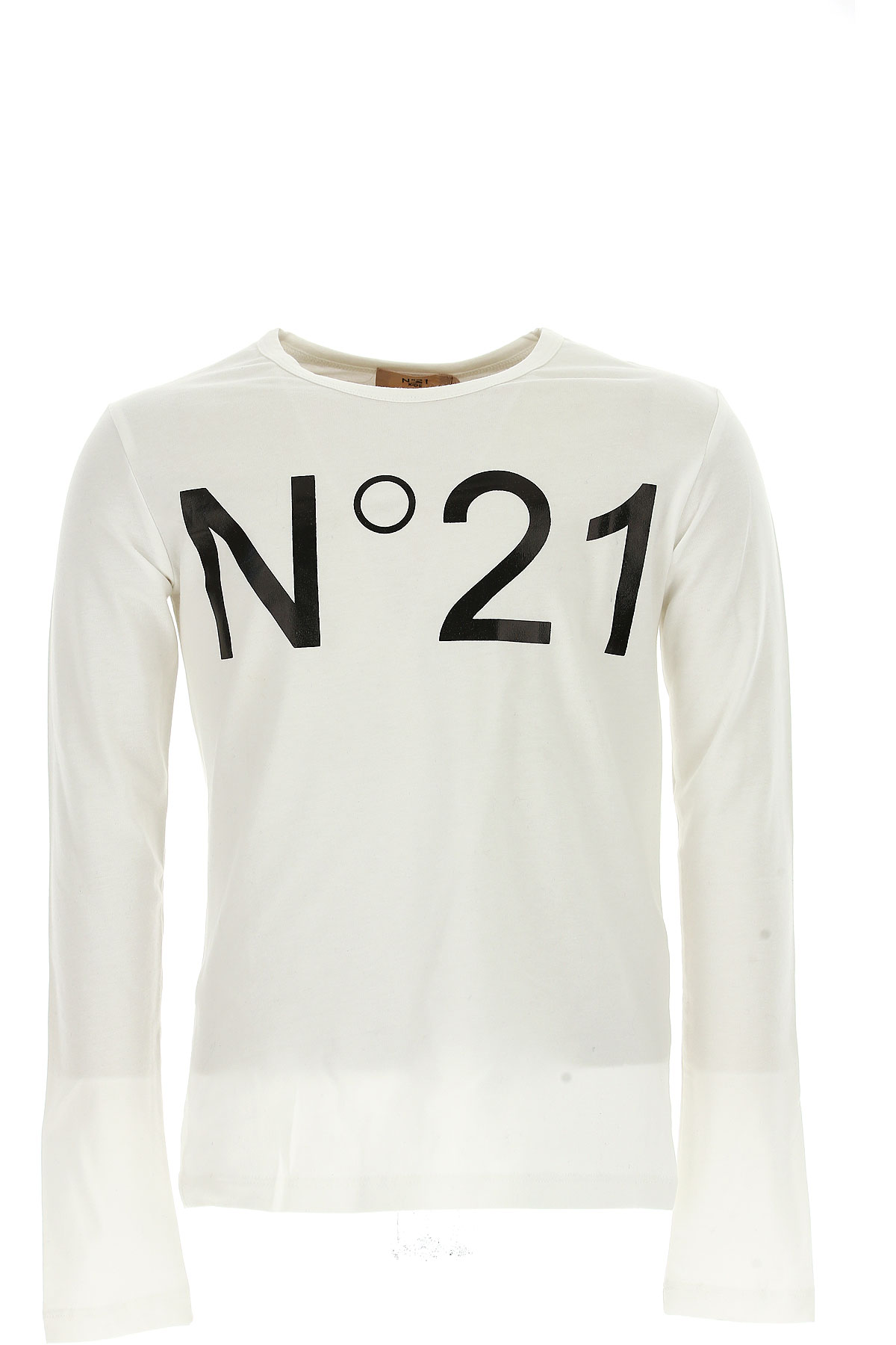 NO 21 Kids T-Shirt for Girls On Sale in Outlet, White, Cotton, 2019, 30 (6 Years) 38 (10 Years)
