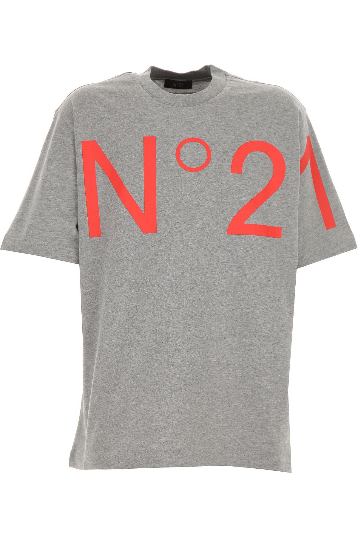 NO 21 Kids T-Shirt for Boys On Sale, Grey, Cotton, 2019, 10Y 12Y 8Y