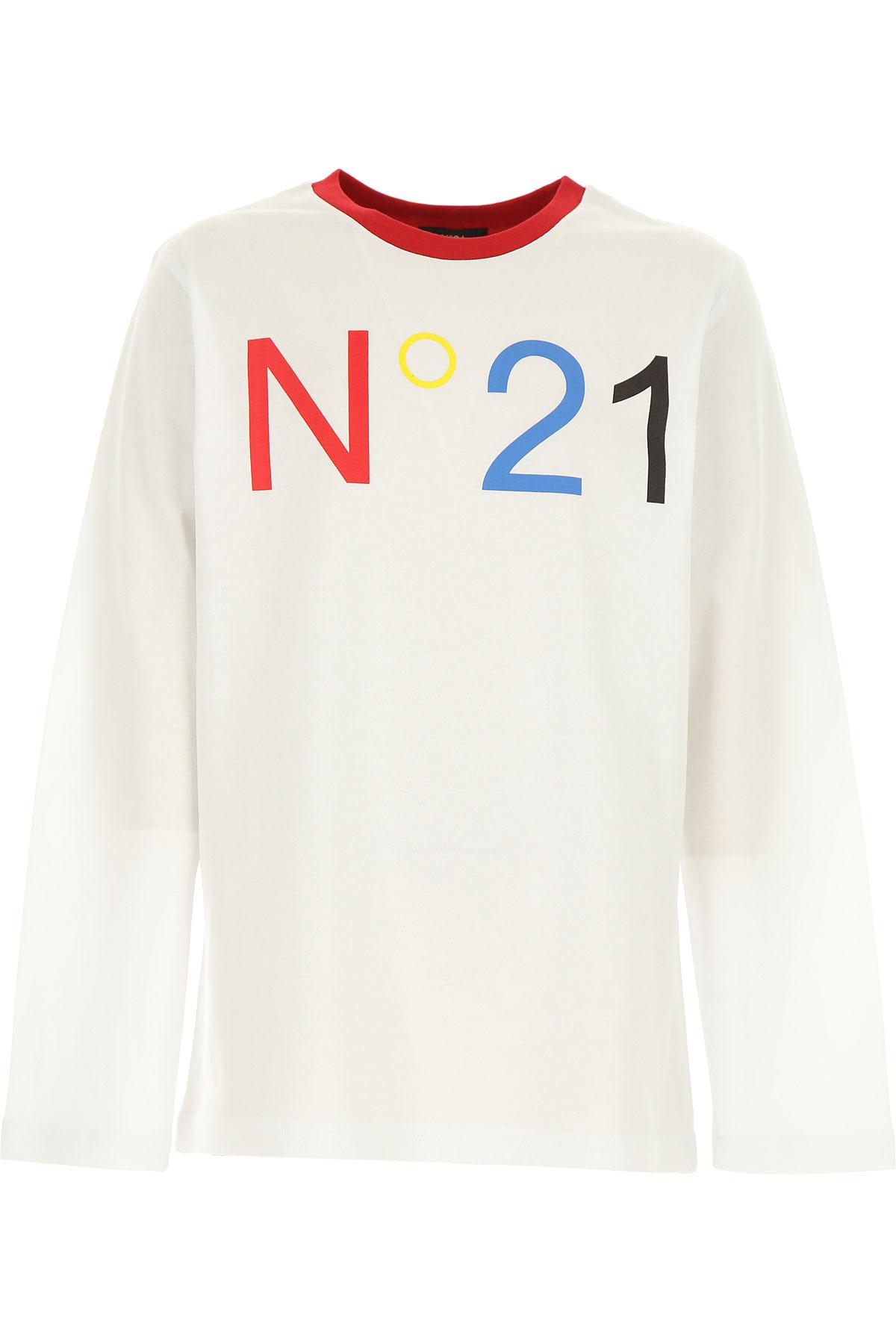 NO 21 Kids T-Shirt for Boys On Sale, White, Cotton, 2019, 10Y 12Y 14Y 8Y