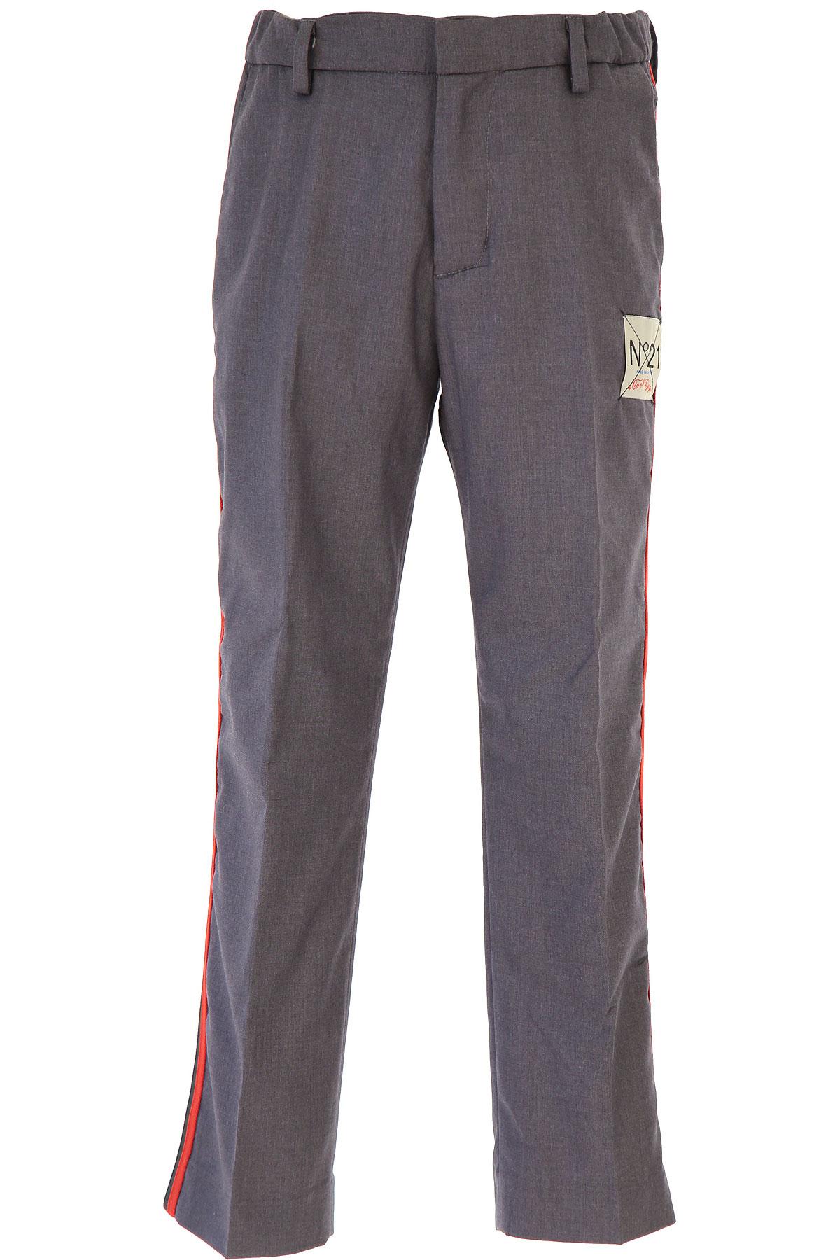 NO 21 Kids Pants for Boys On Sale, Dark Grey, polyester, 2019, 10Y 12Y 14Y 8Y