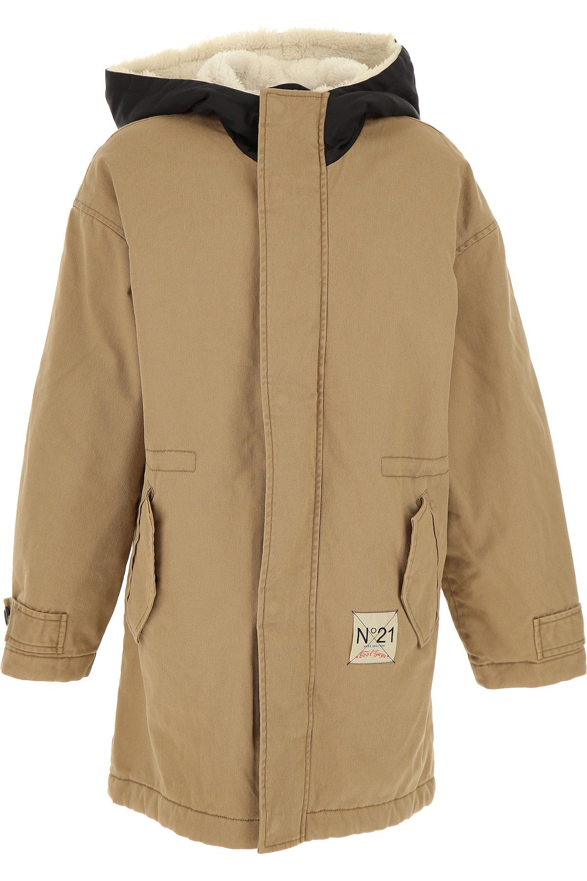 NO 21 Kids Jacket for Boys On Sale, Sand, Cotton, 2019, 10Y 12Y 14Y 8Y
