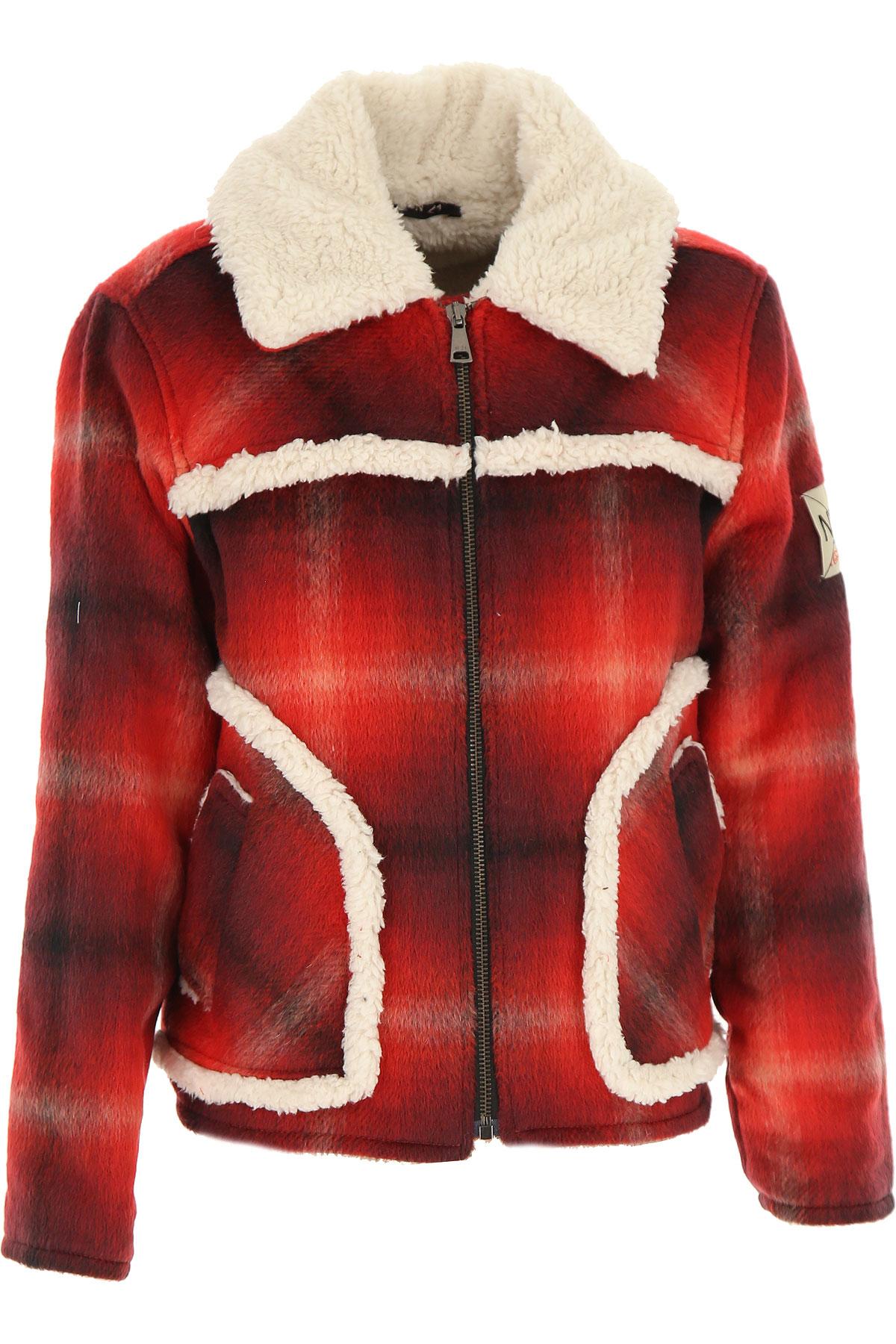 NO 21 {DESIGNER} Kids Coat for Boys On Sale, Shaded Red, Acrylic, 2019, 10Y 12Y 14Y 8Y