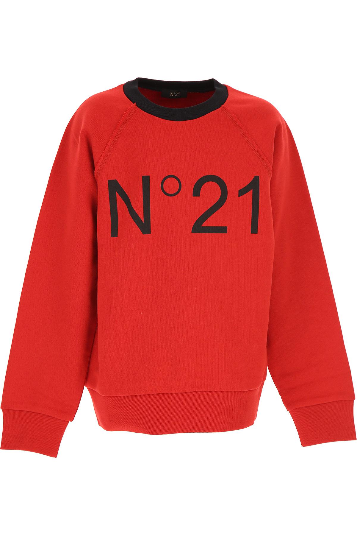 NO 21 Kids Sweatshirts & Hoodies for Boys On Sale, Red, Cotton, 2019, 10Y 12Y 14Y 8Y