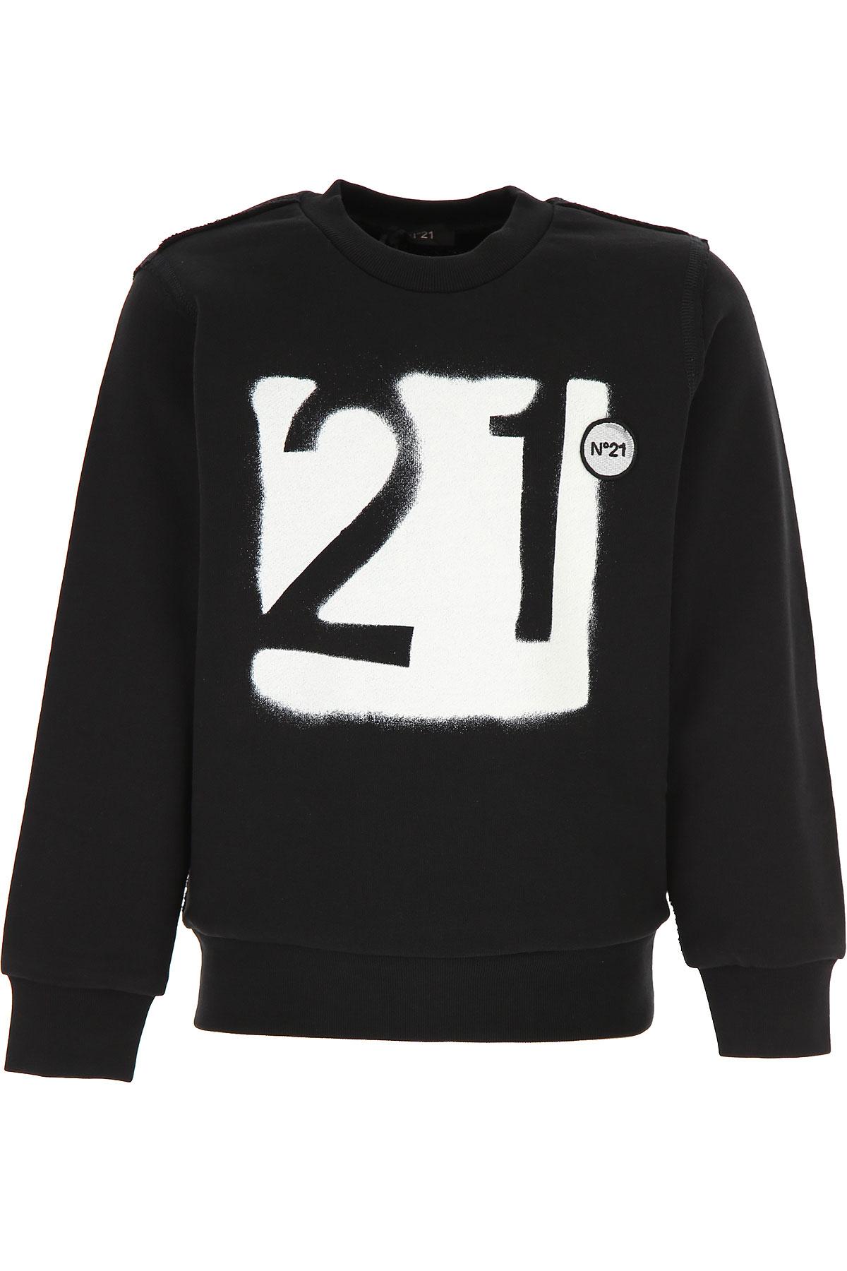NO 21 Kids Sweatshirts & Hoodies for Boys On Sale, Black, Cotton, 2019, 10Y 14Y 4Y 6Y 8Y