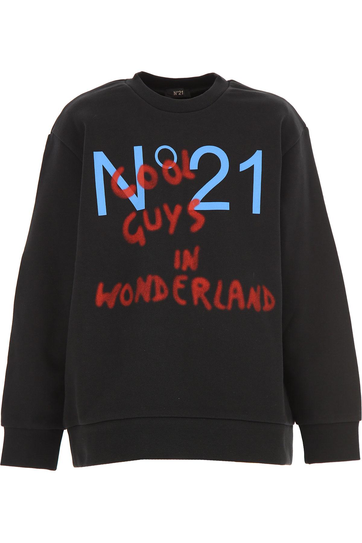 NO 21 Kids Sweatshirts & Hoodies for Boys On Sale, Black, Cotton, 2019, 10Y 8Y