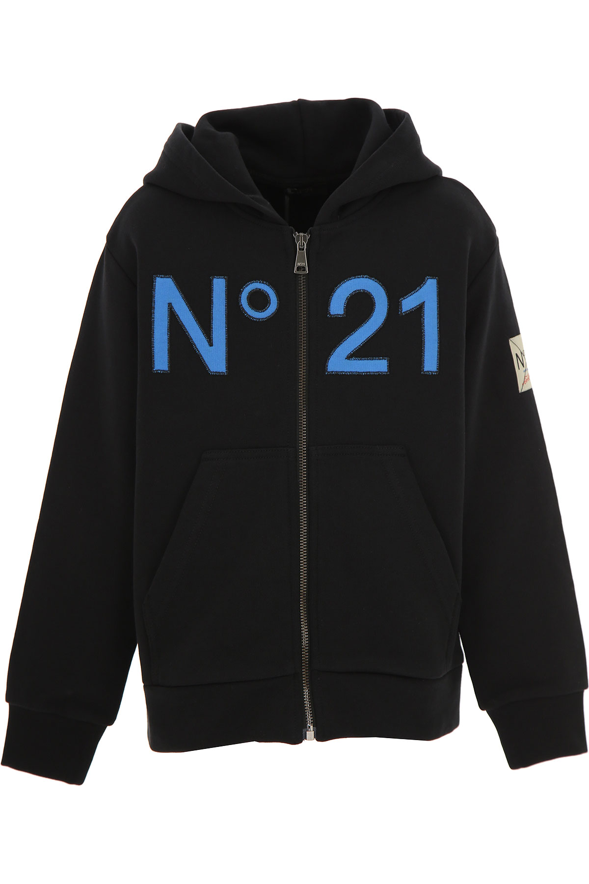 NO 21 Kids Sweatshirts & Hoodies for Boys On Sale, Black, Cotton, 2019, 10Y 12Y 14Y 4Y 6Y 8Y