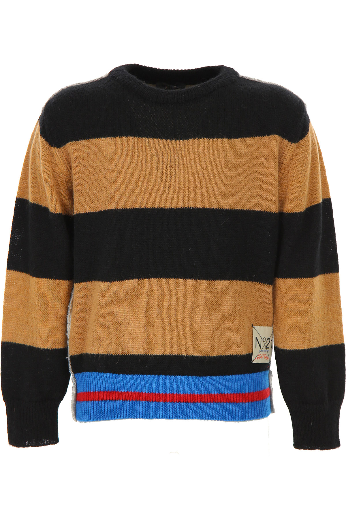 NO 21 Kids Sweaters for Boys On Sale, Black, Acrylic, 2019, 10Y 12Y 8Y