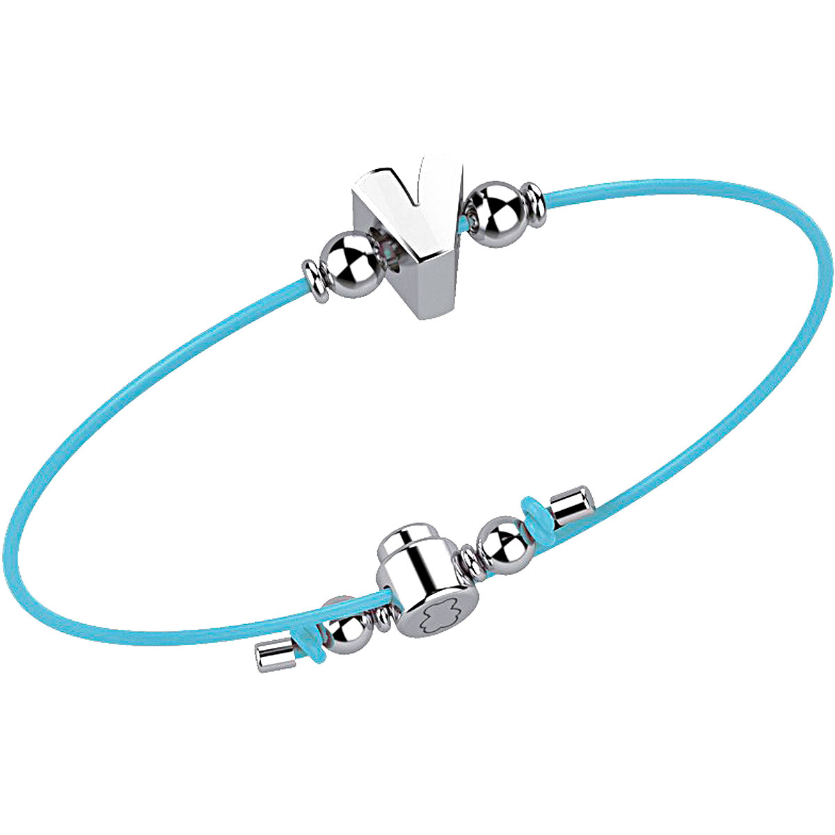 Nanan Bracelet for Women On Sale, Azure, Cotton, 2019