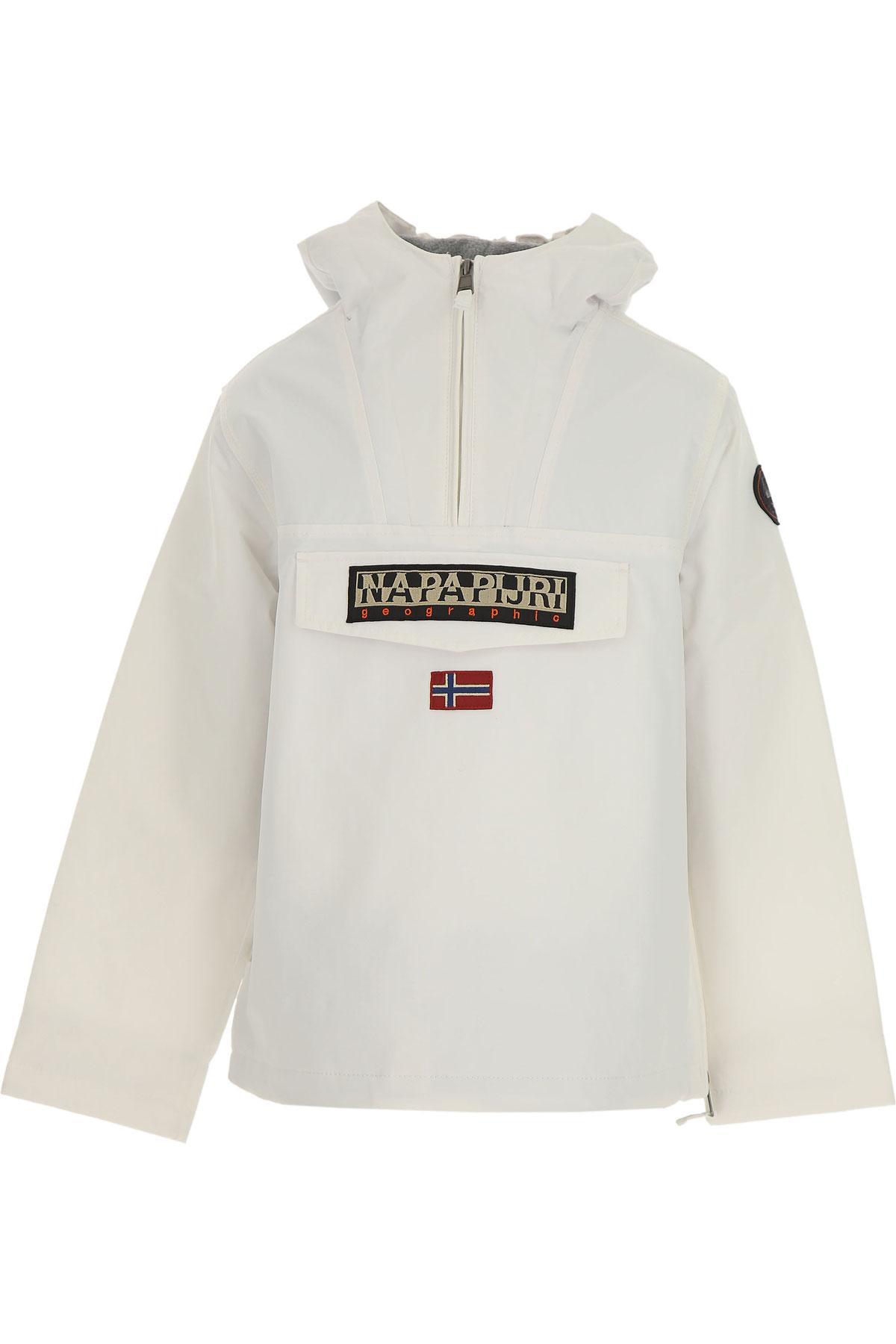 Napapijri Kids Jacket for Boys On Sale, White, polyester, 2019, 10Y 12Y 14Y