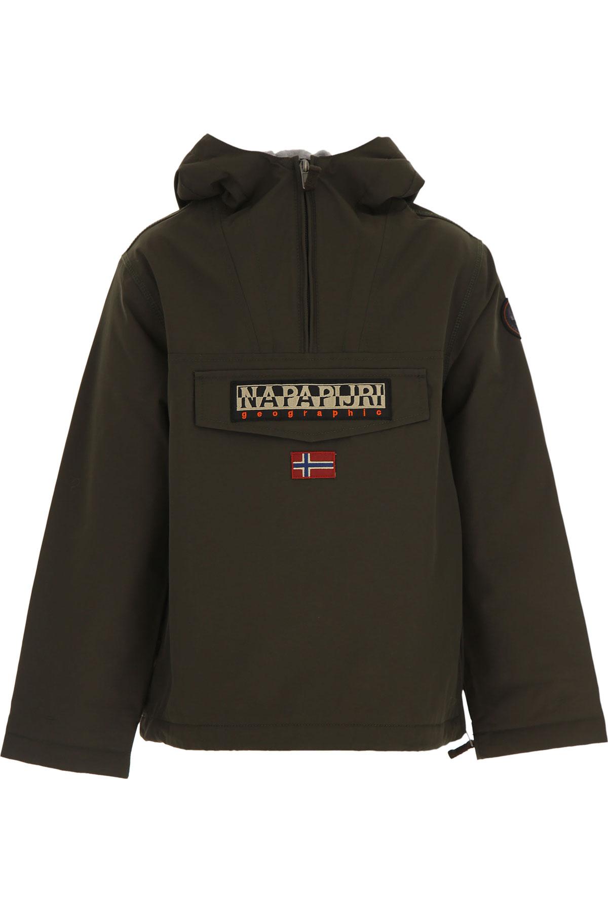 Napapijri Kids Jacket for Boys On Sale, Green, polyester, 2019, 10Y 14Y 16Y