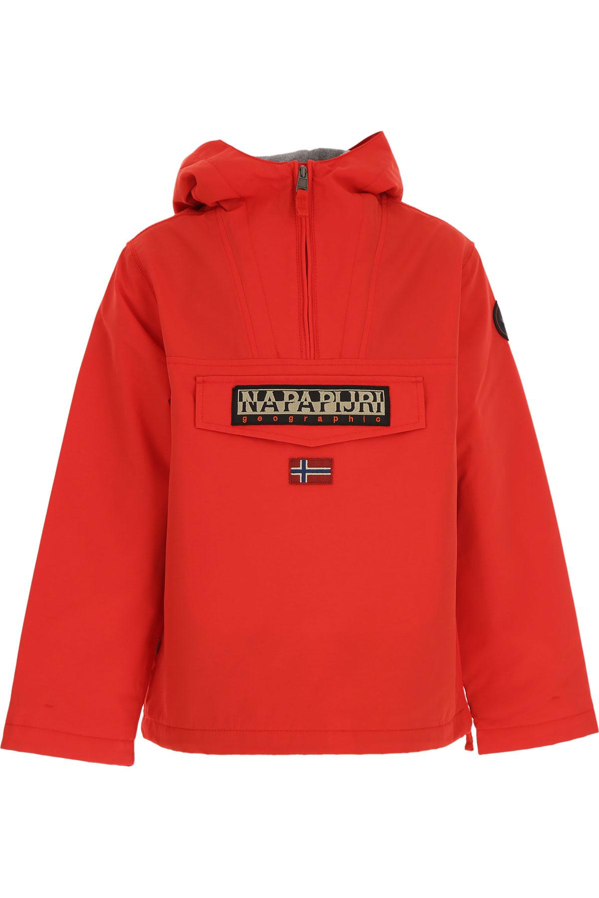 Napapijri Kids Jacket for Boys On Sale, Red, polyester, 2019, 10Y 12Y 6Y 8Y