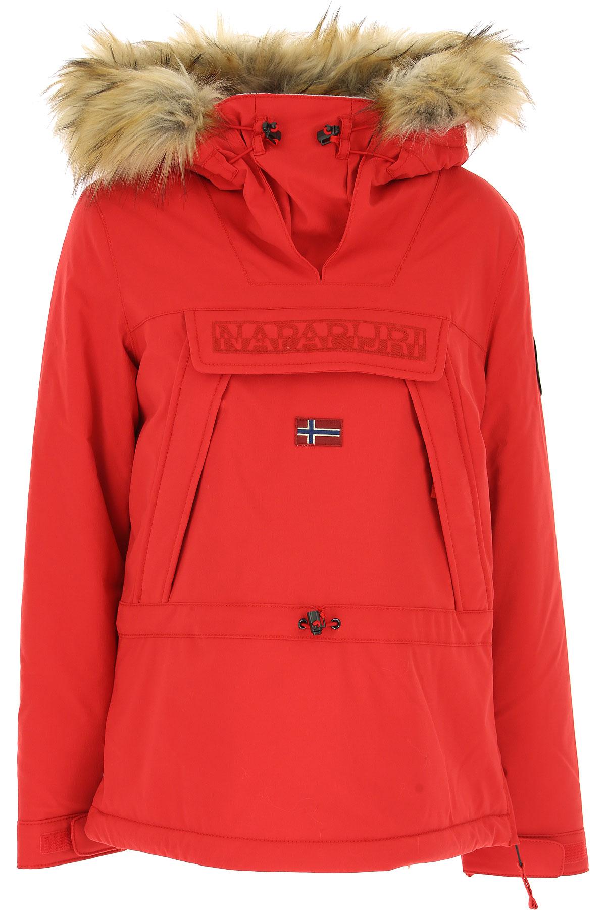 Napapijri Jacket for Women, Red, polyamide, 2017, 10 6 8