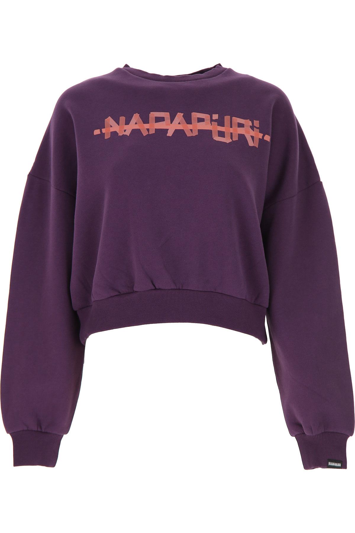 Napapijri Sweater for Women Jumper On Sale, Purple, Cotton, 2019, 2 4