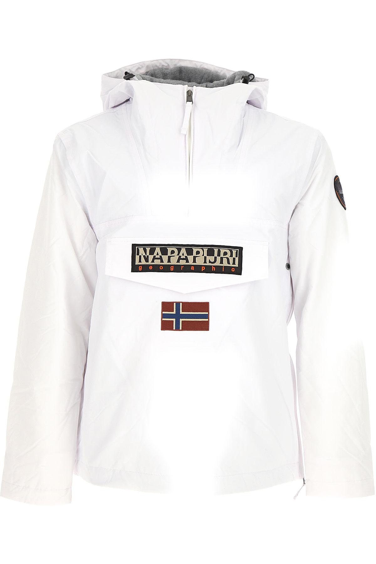 Napapijri Jacket for Men, White, polyamide, 2017, L M S XL