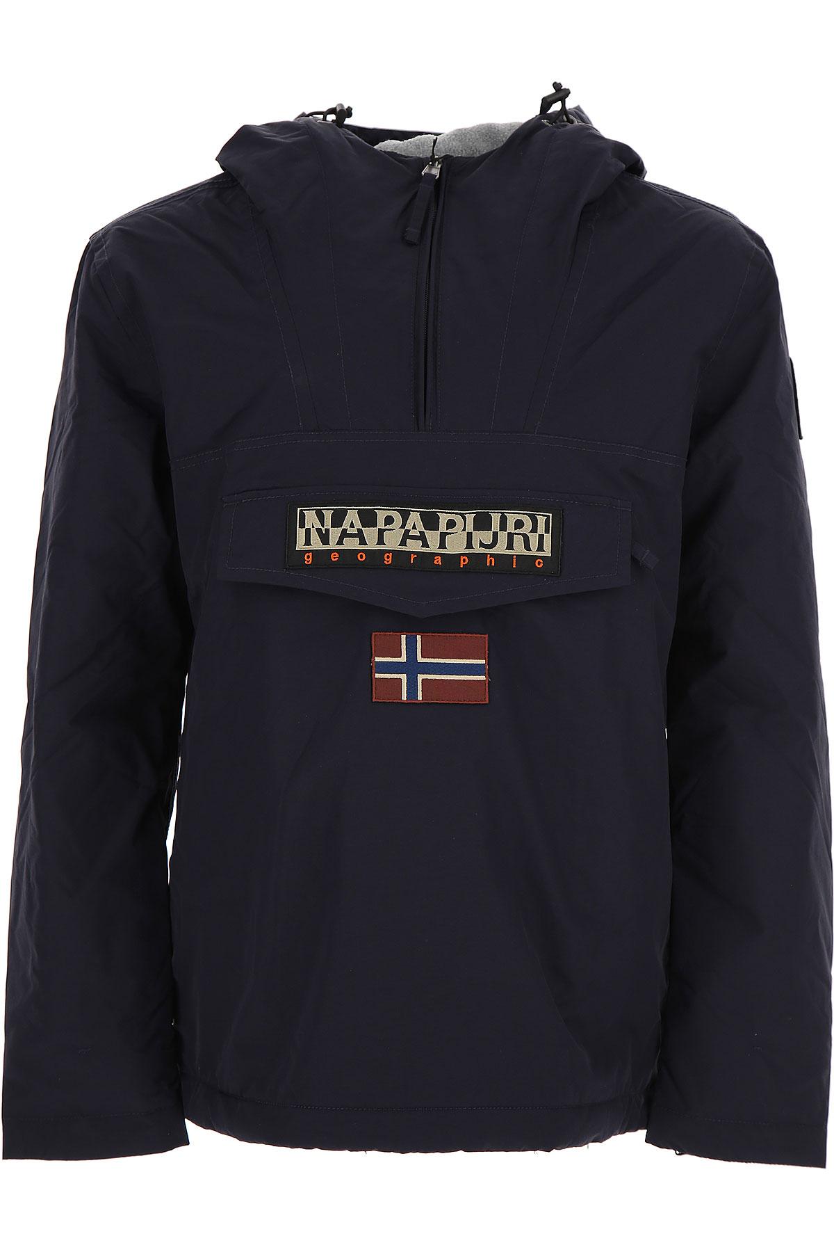 Image of Napapijri Down Jacket for Men, Puffer Ski Jacket, Blue Marine, poliestere, 2017, L M S XL XS XXL