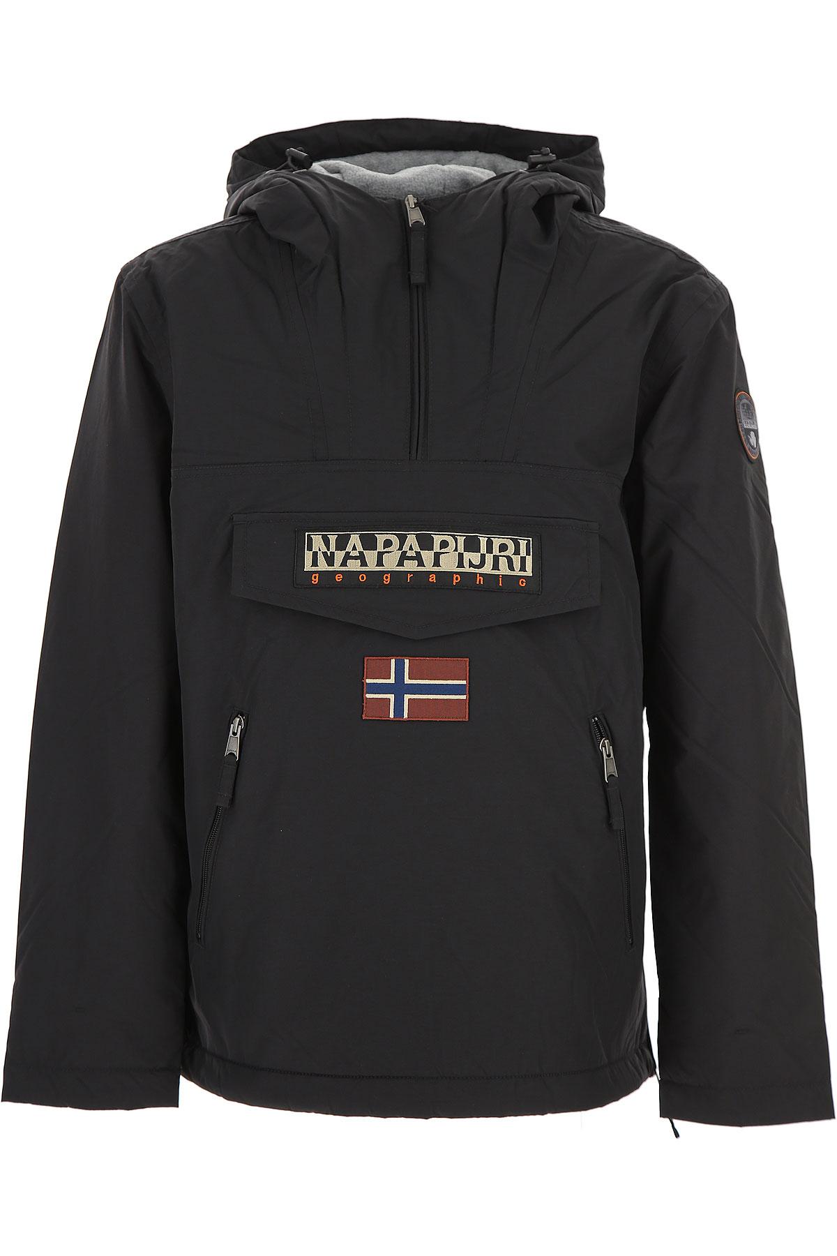 Image of Napapijri Down Jacket for Men, Puffer Ski Jacket, Black, polyamide, 2017, L M S XL XS