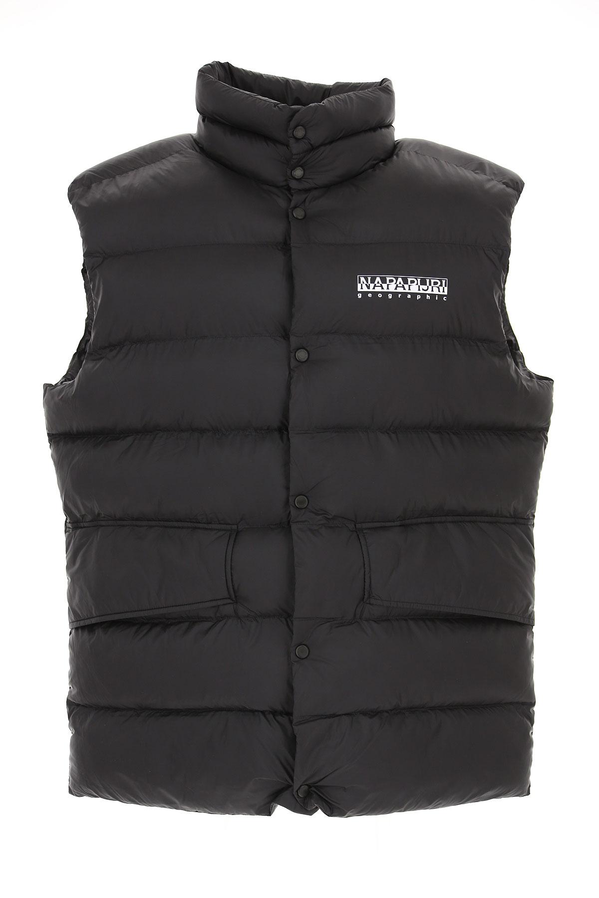 Image of Napapijri Down Jacket for Men, Puffer Ski Jacket, Black, polyamide, 2017, L M S XL
