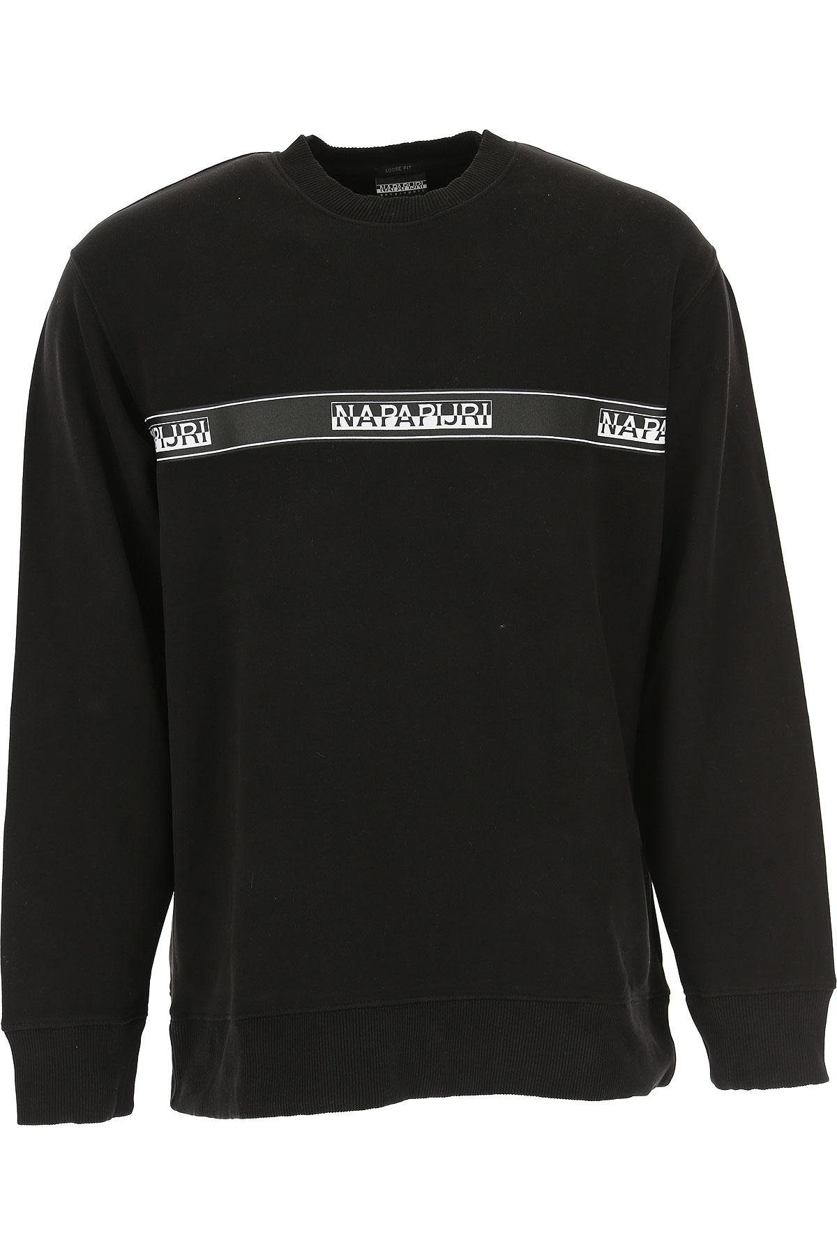 Image of Napapijri Sweatshirt for Men, Black, Cotton, 2017, L M S XL