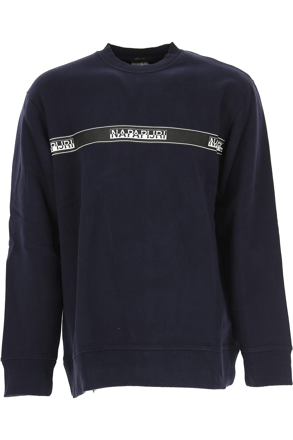 Image of Napapijri Sweatshirt for Men, Blue, Cotton, 2017, L M S XL