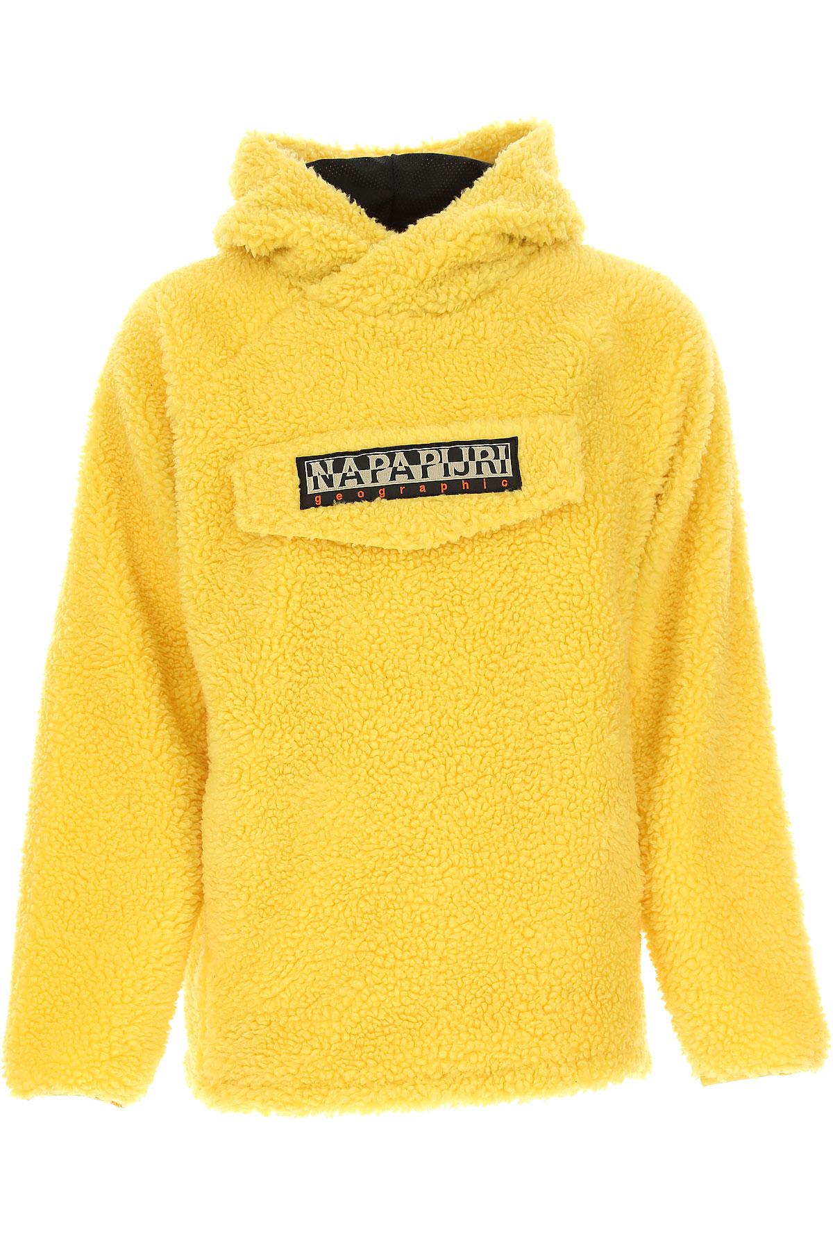 Napapijri Jacket for Men, Yellow, polyester, 2017, L M S XL