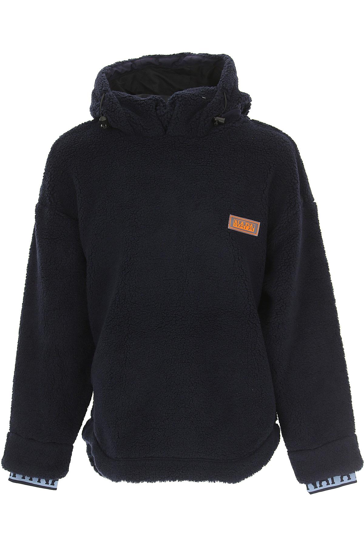 Image of Napapijri Sweater for Men Jumper, Dark Navy Blue, polyester, 2017, L M S XL