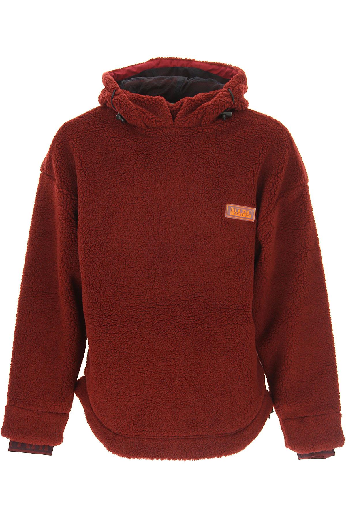 Image of Napapijri Sweater for Men Jumper, Bordeau, polyester, 2017, L M S