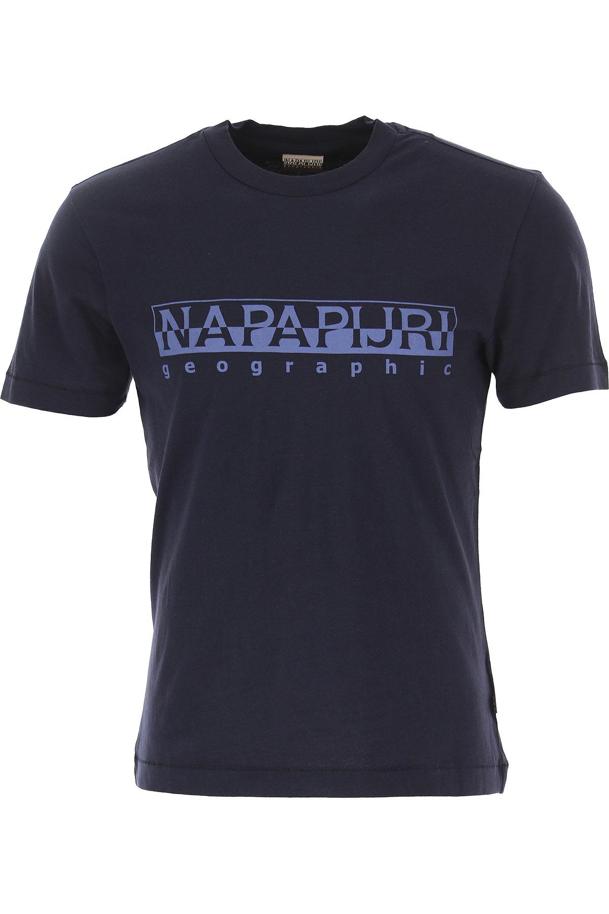 Napapijri T-Shirt for Men On Sale in Outlet, Navy Blue, Cotton, 2019, M XL