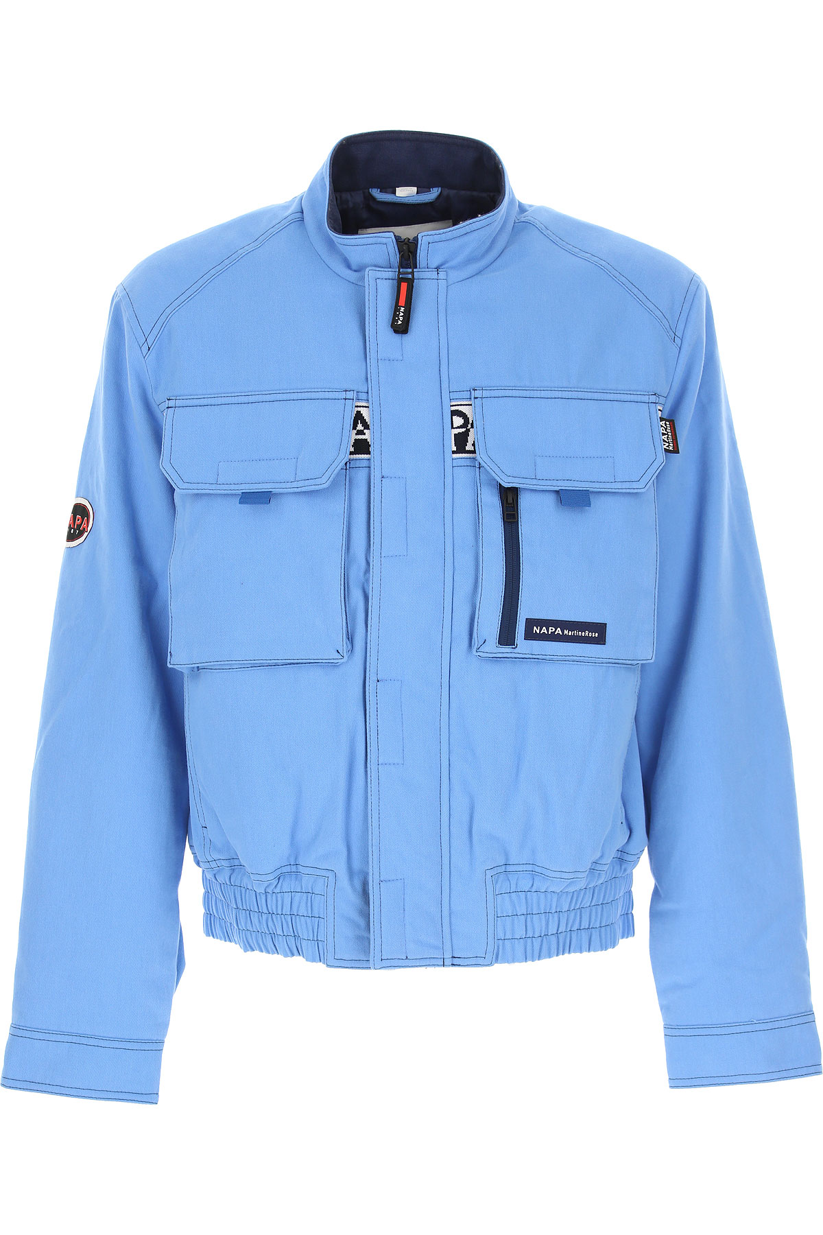 Napapijri Down Jacket for Men, Puffer Ski Jacket On Sale, Sky Blue, Cotton, 2019, L M S
