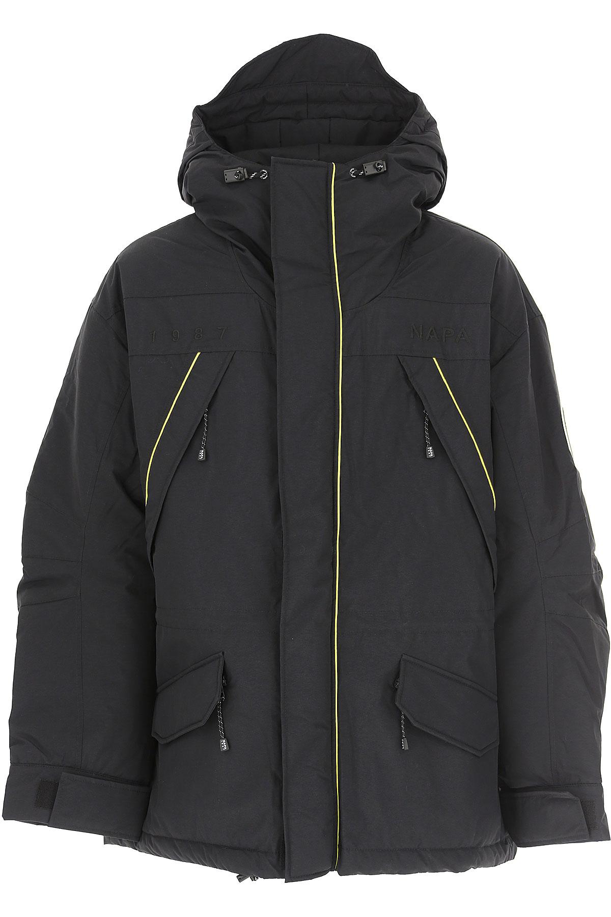 Napapijri Down Jacket for Men, Puffer Ski Jacket On Sale, Black, polyamide, 2019, L M S