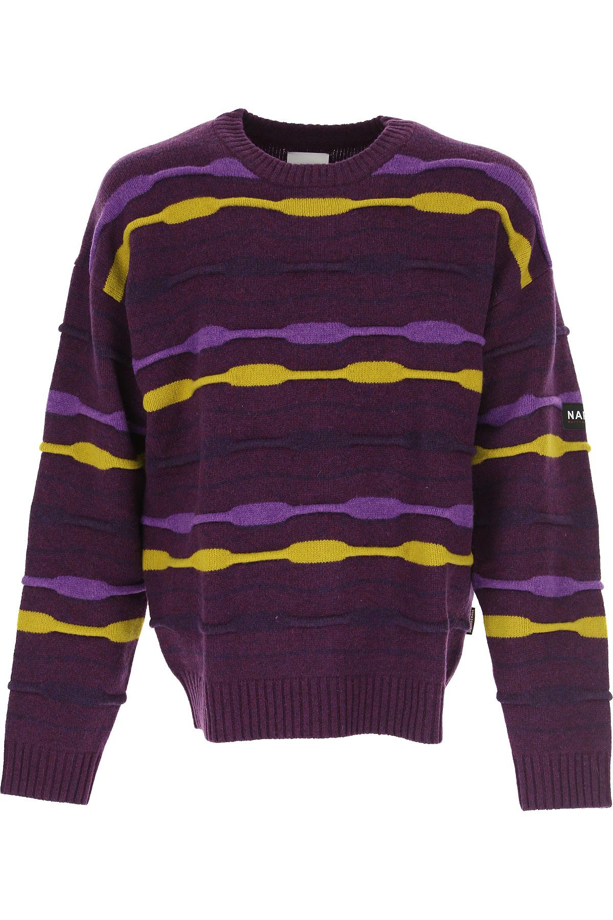 Napapijri Sweater for Men Jumper On Sale, Purple, Wool, 2019, L M